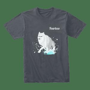 fearless wolf t-shirt